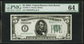 Small Size:Federal Reserve Notes, Fr. 1951-A $5 1928A Federal Reserve Note. PMG Choice Uncirculated 64.. ...