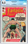 Silver Age (1956-1969):Superhero, Fantastic Four #14 (Marvel, 1963) CGC VF+ 8.5 White pages....
