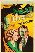 "Movie Posters:Horror, The Bat Whispers (Atlantic, R-1930s). One Sheet (27"" X 41"").. ..."