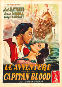 "Fortunes of Captain Blood (Columbia, 1955). Italian 2 - Fogli (39.5"" X 55""). Alfredo Capitani Artwork"