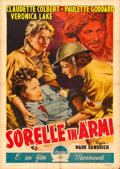 "Movie Posters:War, So Proudly We Hail (Paramount, 1946). First Post-War ReleaseItalian 2 - Fogli (39.5"" X 55""). Averardo Ciriello Artwork.. ..."