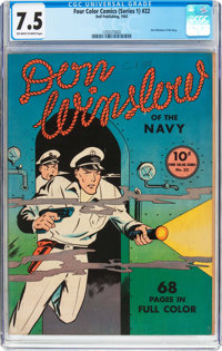 Four Color (Series One) #22 Don Winslow of the Navy (Dell, 1942) CGC VF- 7.5 Off-white to white pages