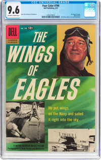 Four Color #790 The Wings of Eagles (Dell, 1957) CGC NM+ 9.6 Off-white to white pages