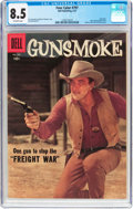 Silver Age (1956-1969):Western, Four Color #797 Gunsmoke (Dell, 1957) CGC VF+ 8.5 Off-whitepages....