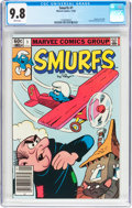 Modern Age (1980-Present):Humor, Smurfs #1 (Marvel, 1982) CGC NM/MT 9.8 White pages....