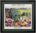 Golf Collectibles:Autographs, 1973 Leroy Neiman Signed Poster of Arnold Palmer at the Masters....