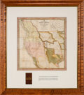Miscellaneous:Maps, S. Augustus Mitchell. A New Map of Texas, Oregon and Californiawith the Regions Adjoining....