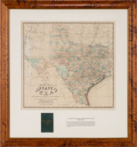 Chas. W. Pressler & A. B. Langermann. Pocket Map of the State of Texas