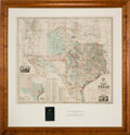 Miscellaneous:Maps, [Anton R. Roessler]. A. R. Roessler's Latest Map of the State ofTexas...
