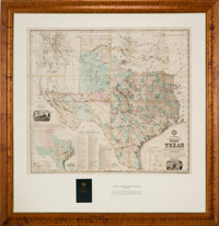 [Anton R. Roessler]. A. R. Roessler's Latest Map of the State of Texas