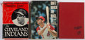 Baseball Collectibles:Publications, Cleveland Indians Signed Books Lot of 3 - Boudreau, Colavito andmore....