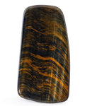 Lapidary Art:Carvings, Polished Tiger's Eye Slab. South Africa. 5.16 x 2.76 x 0.24inches (13.10 x 7.00 x 0.60 cm). ...
