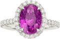 Estate Jewelry:Rings, Ceylon Purple-Pink Sapphire, Platinum Ring, Gerard Leon. ...