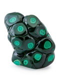 Minerals:Cabinet Specimens, Polished Malachite. Katanga Copper Crescent. Katanga (Shaba).Democratic Republic of Congo (Zaïre). 4.45 x 3.30 x 1.74 inc...