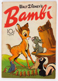 Golden Age (1938-1955):Cartoon Character, Four Color #12 Bambi (Dell, 1942) Condition: VG/FN....