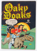 Golden Age (1938-1955):Humor, Oaky Doaks #1 (Eastern Color, 1942) Condition: FN-....