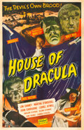 "Movie Posters:Horror, House of Dracula (Realart, R-1950). One Sheet (27"" X 41"").. ..."