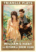"Movie Posters:Western, The Return of ""Draw"" Egan (Triangle, 1916). One Sheet (28.5"" X 41"").. ..."
