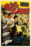"Movie Posters:Sports, Big Game (RKO, 1936). One Sheet (27"" X 41""). Sports.. ..."