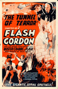 "Movie Posters:Serial, Flash Gordon (Universal, 1936). One Sheet (27"" X 41"") Chapter 2 -- ""Tunnel of Terror."". ..."