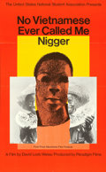 "Movie Posters:Documentary, No Vietnamese Ever Called Me Nigger (Paradigm Films, 1968). OneSheet (22"" X 35"") Milton Glasser Artwork.. ..."