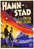 "Movie Posters:Drama, Port of Call (Svensk Filmindustri, 1948). Swedish One Sheet (27.25""X 39.25""). Eric Rohman Artwork.. ..."