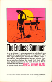 "The Endless Summer (Bruce Brown Films, 1964). Autographed Silk Screen Test Print (22.5"" X 35""). John Van Hamer..."