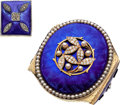 Estate Jewelry:Suites, Antique Diamond, Cultured Pearl, Enamel, Gold Jewelry. ... (Total:2 Items)