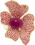 Estate Jewelry:Rings, Ruby, Gold Ring. ...