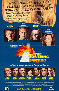"""The Towering Inferno (20th Century Fox, 1974). Full-Bleed One Sheet (27"""" X 41"""") Advance"""