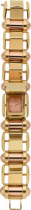 Estate Jewelry:Watches, Gübelin Lady's Gold Covered Dial Watch, circa 1945. ...