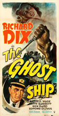 "Movie Posters:Horror, The Ghost Ship (RKO, 1943). Three Sheet (41"" X 80"").. ..."