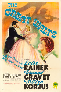 "The Great Waltz (MGM, 1938). One Sheet (27.5"" X 41"") Style C"