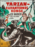 "Movie Posters:Adventure, Tarzan and the She-Devil (RKO, 1953). Danish Poster (24.25"" X33.25""). Adventure.. ..."