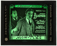 "Test of Honor (Paramount, 1919). Glass Slide (3.25"" X 4""). Drama"