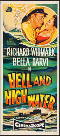 "Movie Posters:Drama, Hell and High Water (20th Century Fox, 1954). Australian Daybill(13"".35 X 30""). Drama.. ..."