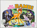 "Movie Posters:Animation, Bambi (Walt Disney Productions, R-1975). British Quad (30"" X 40"").Animation.. ..."
