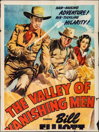"The Valley of Vanishing Men & Other Lot (Columbia, 1942). Partial Three Sheets (2) (41"" X 54""). Serial..."