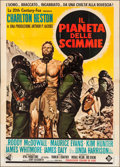 "Movie Posters:Science Fiction, Planet of the Apes (20th Century Fox, 1968). Italian 4 - Fogli (55""X 77""). Science Fiction.. ..."