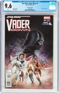 Modern Age (1980-Present):Science Fiction, Star Wars: Vader Down #1 Comic Block Edition (Marvel, 2016) CGC NM+9.6 White pages....
