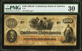 Confederate Notes:1862 Issues, J. G. M. Ramsey Issued T41 $100 1862 PF-16 Cr. 320.. ...