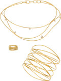 Estate Jewelry:Suites, Diamond, Gold Jewelry Suite, Elsa Peretti for Tiffany & Co..... (Total: 3 Items)