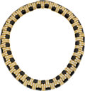 Estate Jewelry:Necklaces, Diamond, Black Onyx, Gold Necklace, David Webb. ...