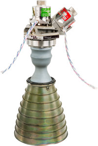 Apollo Lunar Module Reaction Control System Marquardt R-4D Rocket Engine with Extended Nozzle, Manufactured in 1965