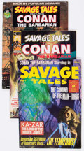Magazines:Adventure, Savage Tales Group of 12 (Marvel, 1973-80) Condition: Average FN/VF.... (Total: 12 Comic Books)