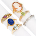 Estate Jewelry:Rings, Multi-Stone, Diamond, Gold Rings. . ... (Total: 6 Items)