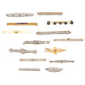 Estate Jewelry:Brooches - Pins, Diamond, Multi-Stone, Glass, Platinum, Gold Brooches. ... (Total:14 Items)