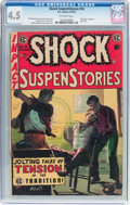 Golden Age (1938-1955):Horror, Shock SuspenStories #16 (EC, 1954) CGC VG+ 4.5 Off-white pages....