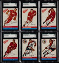 Hockey Cards:Lots, 1954 Topps Hockey SGC Graded Collection (6) With Lindsay. ...