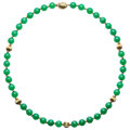 Estate Jewelry:Necklaces, Chrysoprase, Gold Necklace. . ...